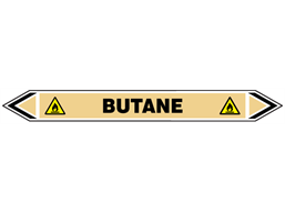 Butane flow marker label.