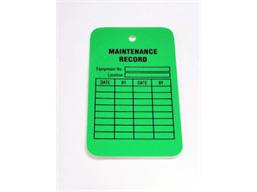 Maintenance record tag.