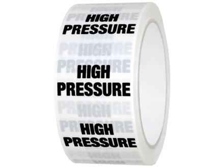 High pressure pipeline identification tape.