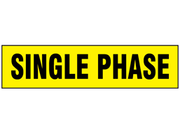 Single Phase label