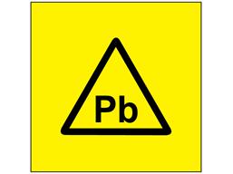 Pb (lead) symbol label.