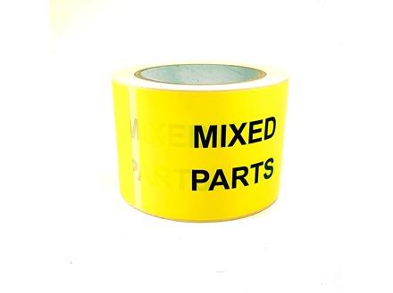 Mixed parts labels