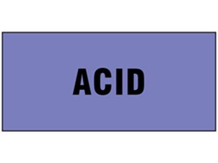 Acid pipeline identification tape.