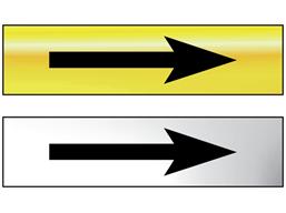 Directional arrow (right or left) metal doorplate