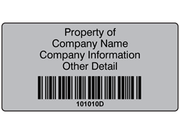 Scanmark foil barcode label (black text), 38mm x 76mm