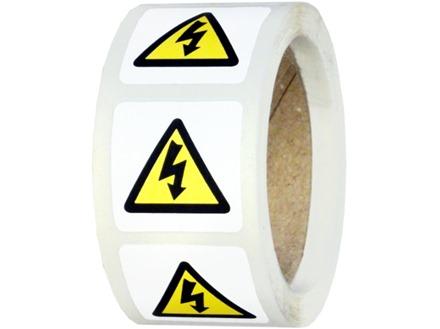 Electrical voltage symbol label.