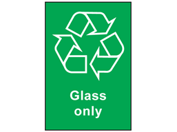 Glass Only Recycling Sign Env1030 Label Source