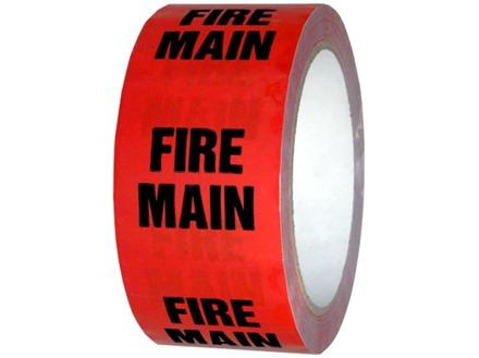 Fire main pipeline identification tape.