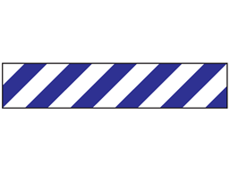 Blue and white striped flagging tape