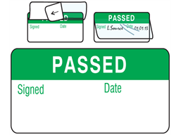 Passed jumbo write and seal labels.