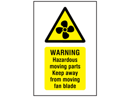 Warning Fan Hazard Symbol And Text Safety Sign Ws4630