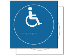 Disabled wheelchair symbol sign.