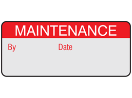 Maintenance aluminium foil labels.