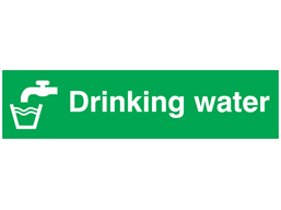 Drinking water, mini safety sign.