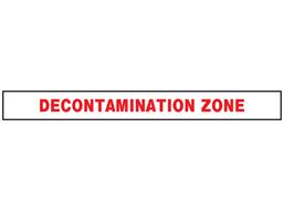 Decontamination zone barrier tape