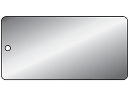 Blank soft faced aluminium metal tags.