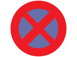 No stopping / clearway sign