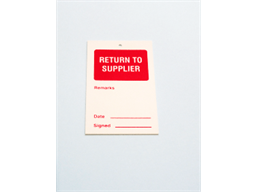 Return to supplier tag