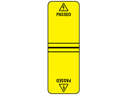 Passed cable wrap label