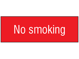 No smoking, engraved sign.