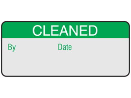Cleaned aluminium foil labels.