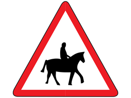 Accompanied horses and ponies sign