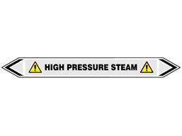 High pressure steam flow marker label.