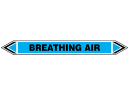 Breathing air flow marker label.