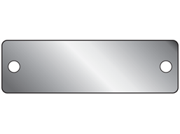 Blank stainless steel nameplate, 19mm x 63mm