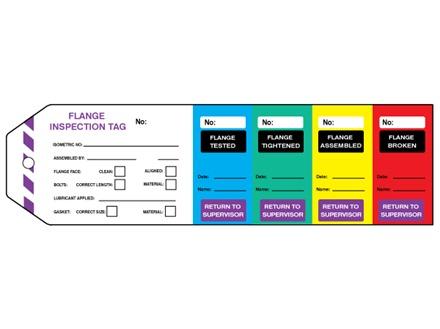 Flange inspection tag (five part).