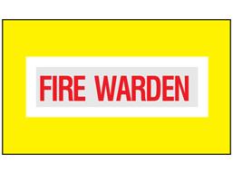 Fire warden safety armband