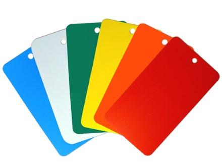 Plain Plastic Tags (Rectangular, 65mm x 115mm)
