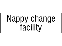Nappy change facility, engraved sign.