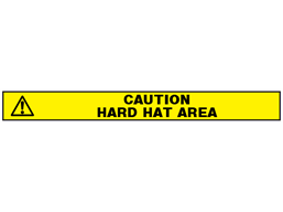 Caution hard hat area barrier tape