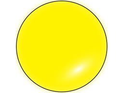 Fluorescent yellow inventory dot label