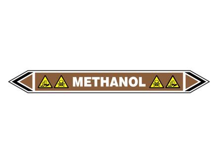 Methanol flow marker label.