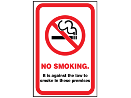 No smoking safety sign (England).
