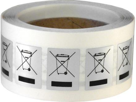 RoHS WEEE disposal symbol (500) label
