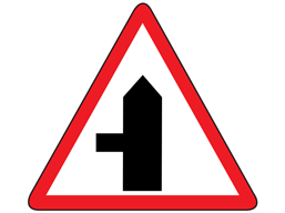 Road junction to the left sign