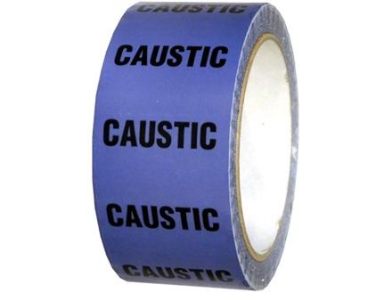 Caustic pipeline identification tape.