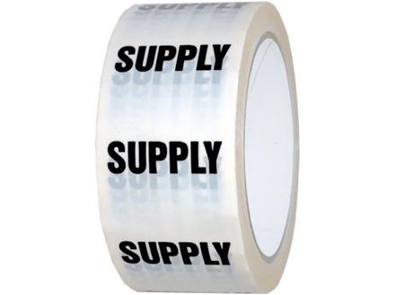 Supply pipeline identification tape.