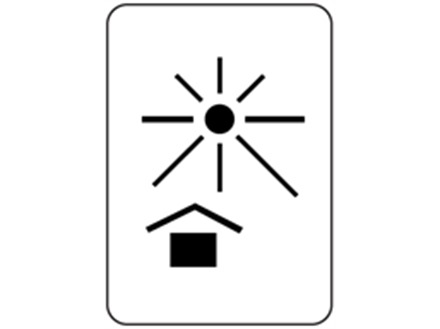 Protect from heat packaging symbol label