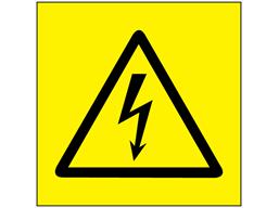 Electrical symbol warning label
