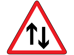 Two-way traffic ahead sign Vector Image - 2026015 ... |Two Way Traffic Ahead Sign