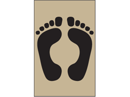 Footprints symbol heavy duty stencil