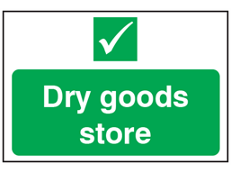 Dry goods store sign.