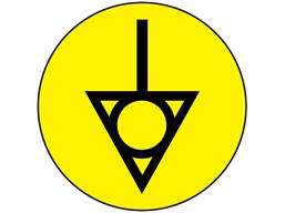 Potential equalisation symbol label.