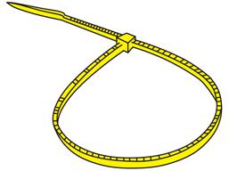 Plain nylon cable ties, yellow