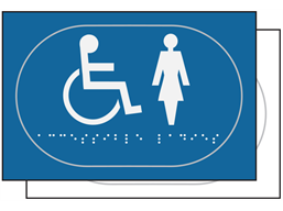Ladies/Disabled toilet sign.