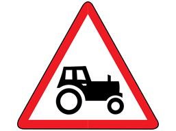Farm machinery route ahead sign
